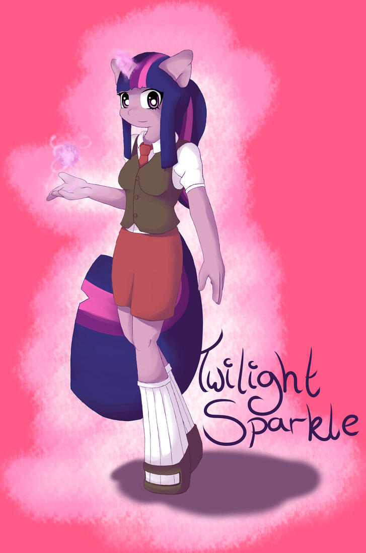 Twilight Sparkle - Anthro by TesslaShy