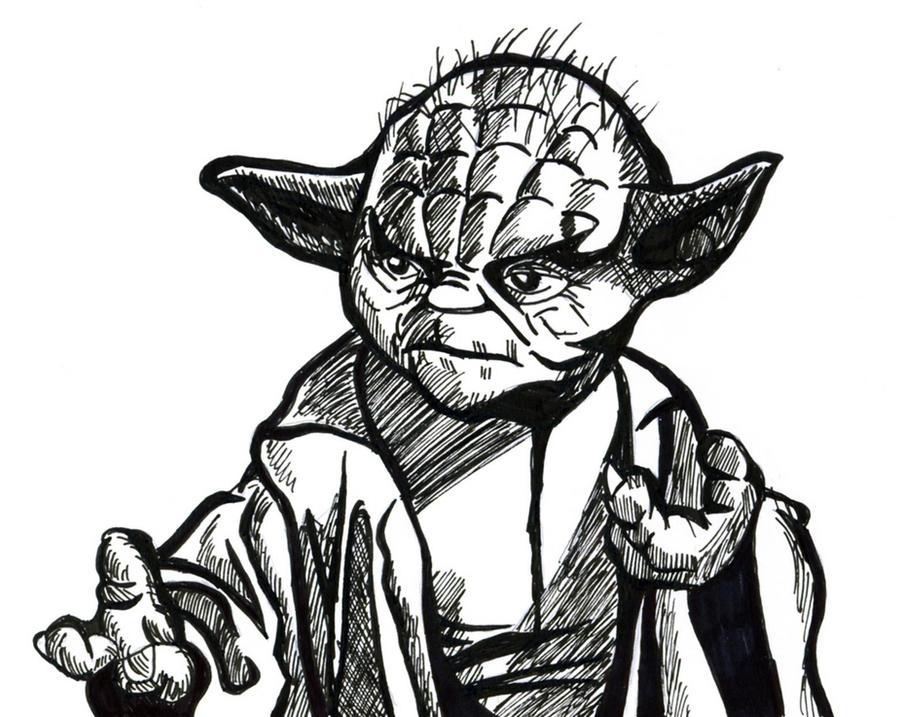 Line Art Yoda : Yoda line drawing by hanfaw on deviantart