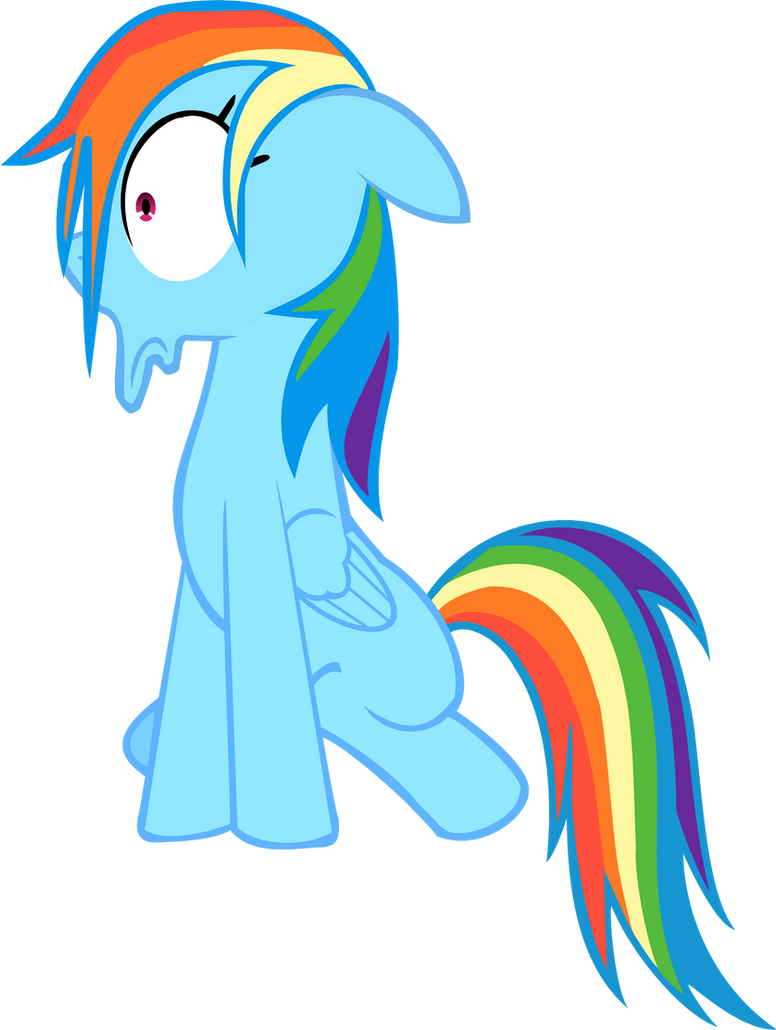 Rainbow Dash Scared Vector by DarkFlame75
