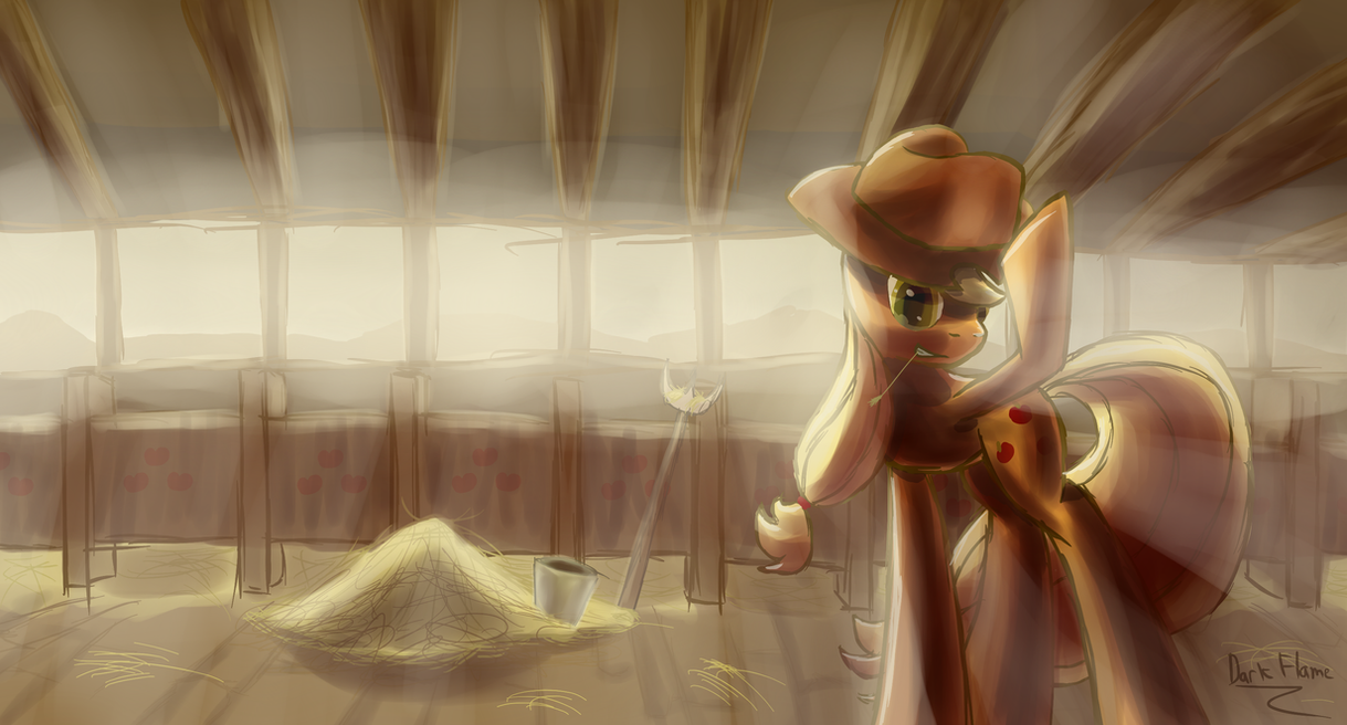 Evenings at Sweet Apple Acres by DarkFlame75