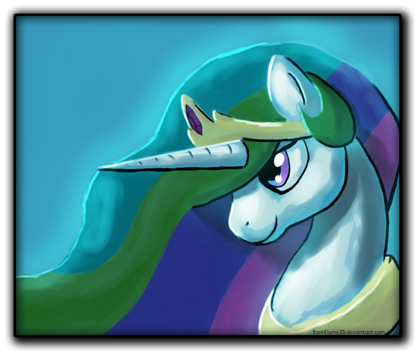Celestia Portrait by DarkFlame75