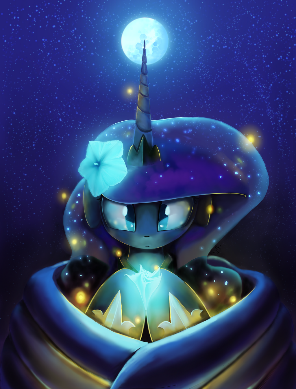 Bloom of the Moon's light