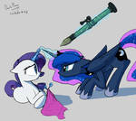 What you get for messing with Luna's stuff Rarity