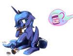 Luna stop you'll get fat