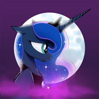 Luna Button design by DarkFlame75