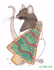 Christmas Rattie by CatwingsV