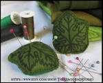 Felt Grape Leaf Pin Cushion