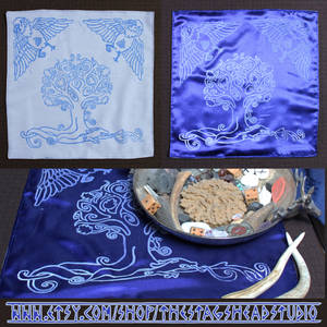 Yggdrasil Altar Cloth: Hand Printed + Double Sided by ImogenSmid