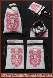 Gullinbursti Pouch: Norse Boar,Tarot Bag, Dice Bag by ImogenSmid