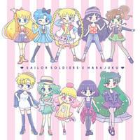 Sailormoon X Harajuku by littlemisspaintbrush