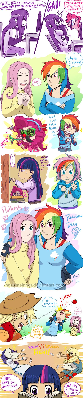 MLP:FiM Humanized Ponies by HazuraSinner