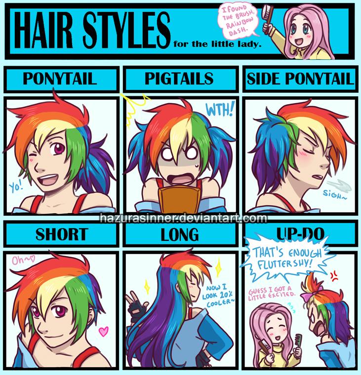 Hair Style Meme By HazuraSinner On DeviantArt - Hairstyle drawing meme