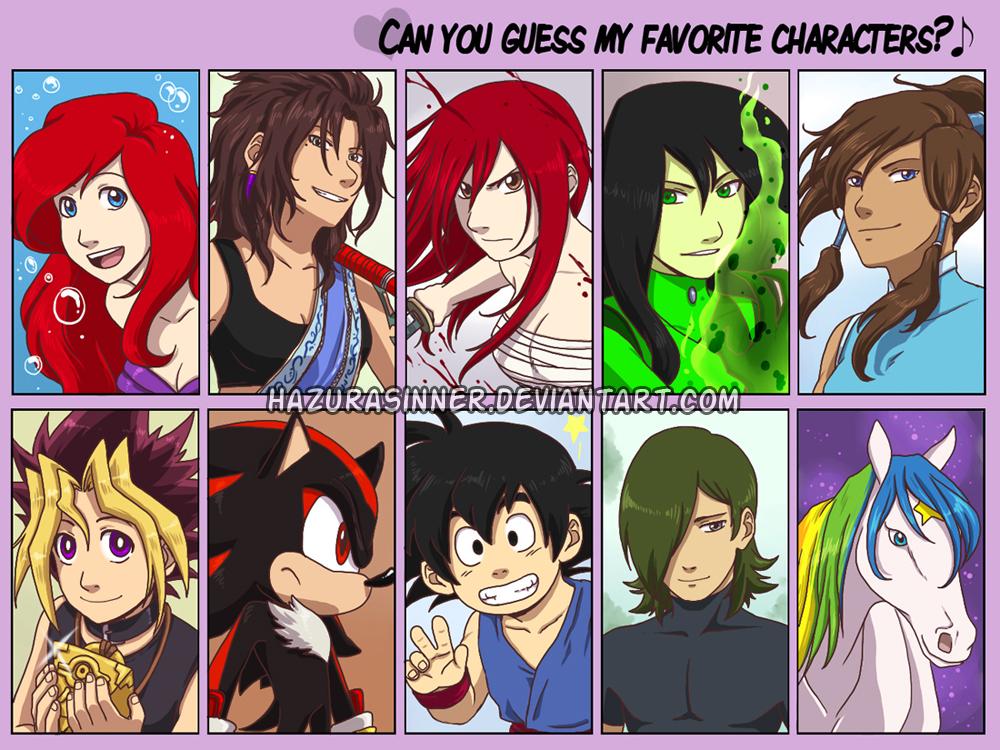 Favorite Characters meme by HazuraSinner