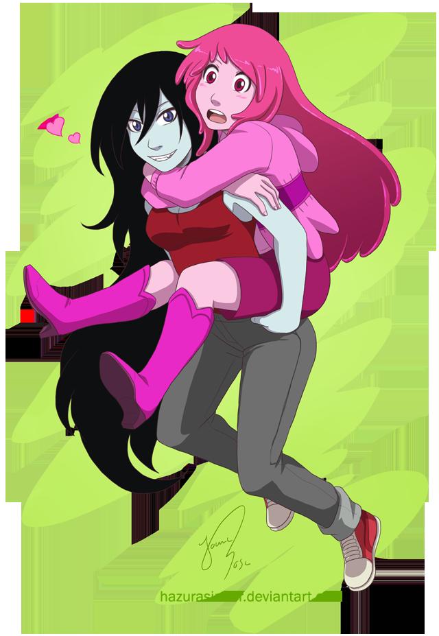 Marceline and Bubblegum by HazuraSinner