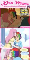 FlutterDash Kiss Meme