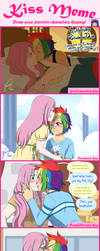 FlutterDash Kiss Meme by HazuraSinner