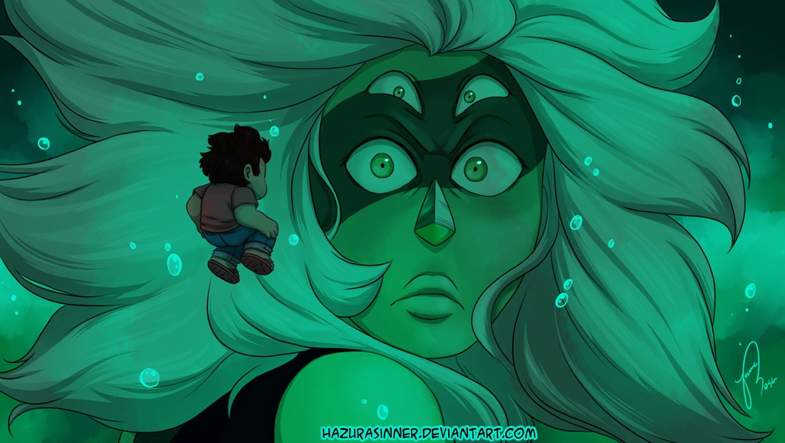 I'm not going to lie, this part scared me. Worse, it suffocated me! Not just because of Malachite's creepy look on Steven but also because I have an irrational fear of the depths of the...