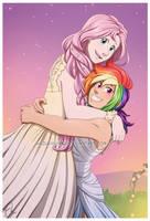 Rainbow and Fluttershy's Wedding by HazuraSinner