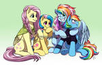 Fluttershy and Rainbow's Family