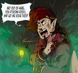 RandR: Baar D' loses his New Bud and Temper by HazuraSinner