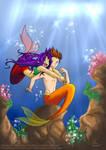 Underwater hug