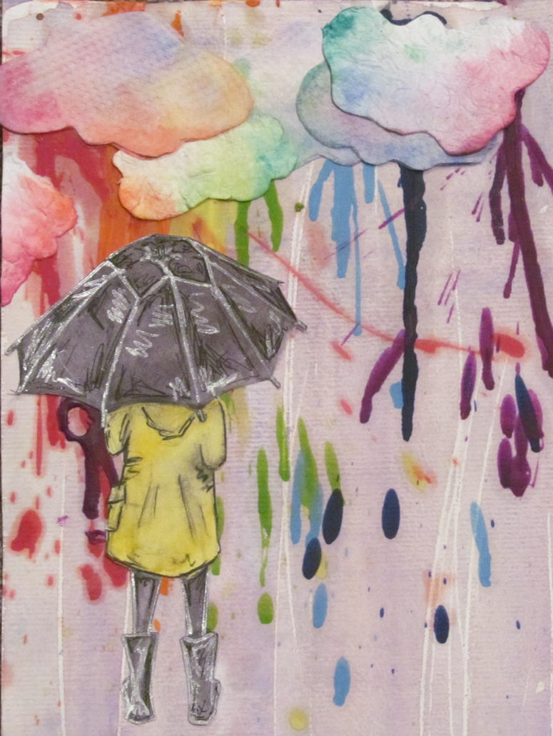 Alone In The Rainbow Rain by bronzebug