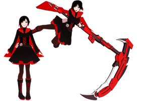 mmd- ruby rose by whimsicottsh