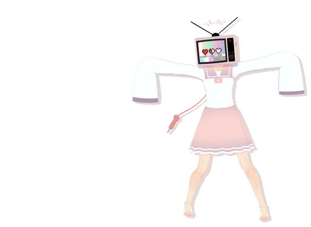 mmd tv head by whimsicottsh on deviantart