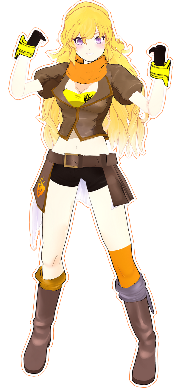 mmd .::Yang Xiao Long::. by whimsicottsh on DeviantArt