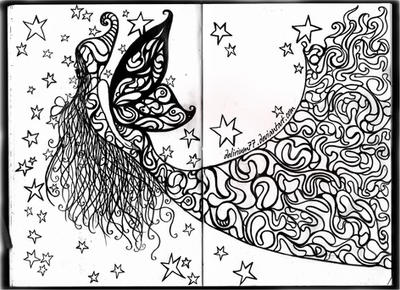 drawing paper fairies by vasodelirium