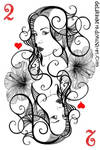 two of hearts by vasodelirium