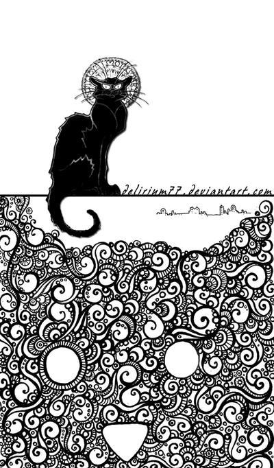 le chat noir by vasodelirium