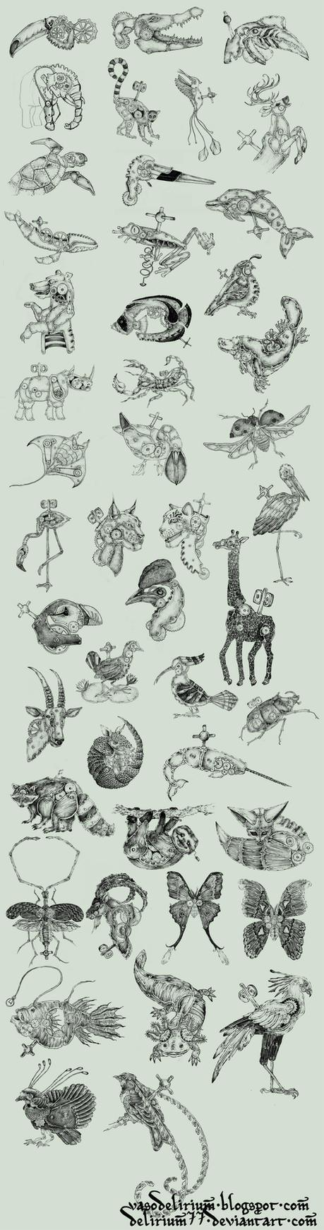 clockwork creatures by vasodelirium