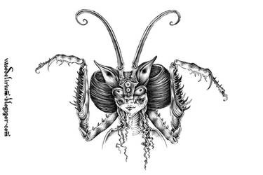 mantis girl by vasodelirium