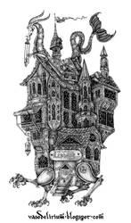 the wandering library by vasodelirium