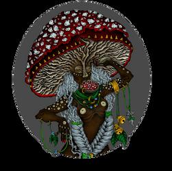 Mushroom Tribe - coloured by vasodelirium