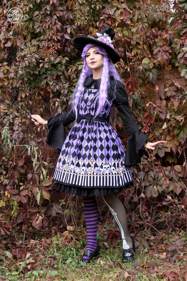 Purple Witch Lolita 4 by Enolla