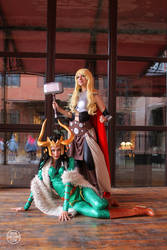 Thor Jane Foster and Lady Loki from Marvel 01