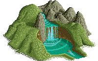 Pixel waterfall - chute d'eau by phoxic