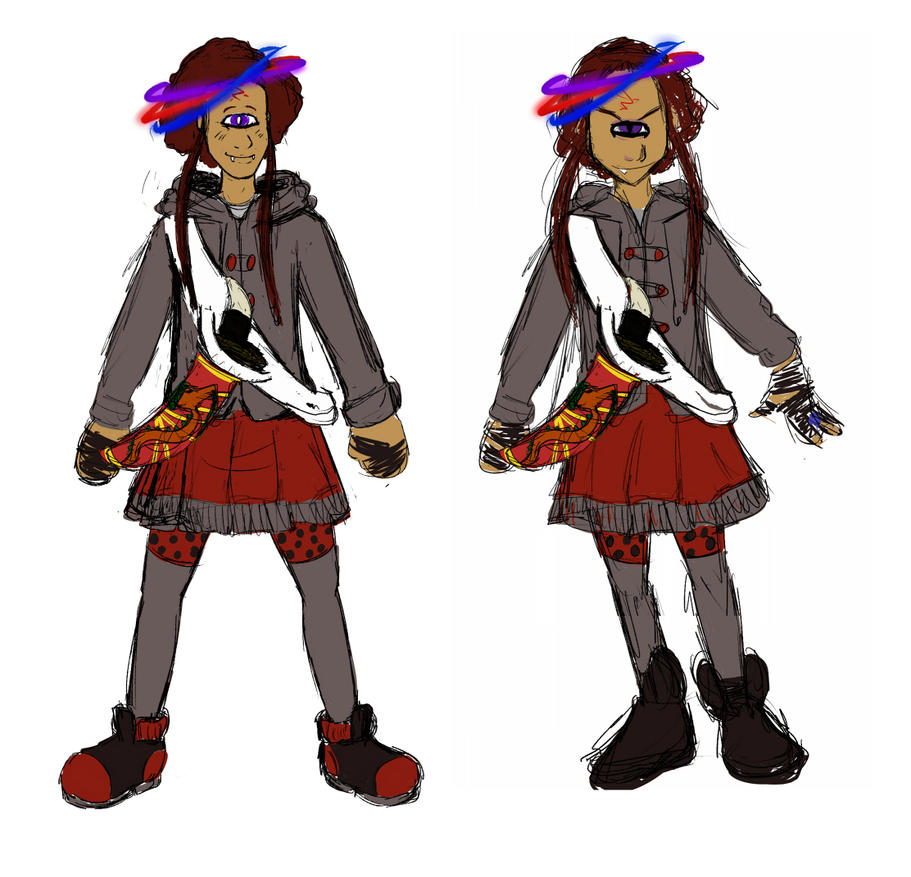 Undead Atticus in a skirt REDRAWN by SLYKM