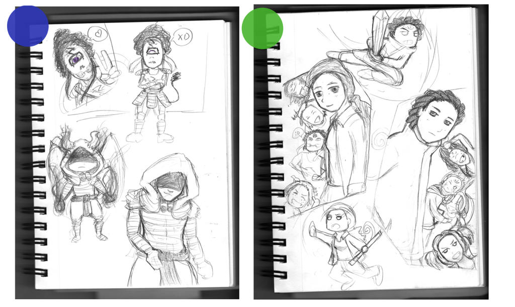 I-got-a-new-sketchbook dump by SLYKM