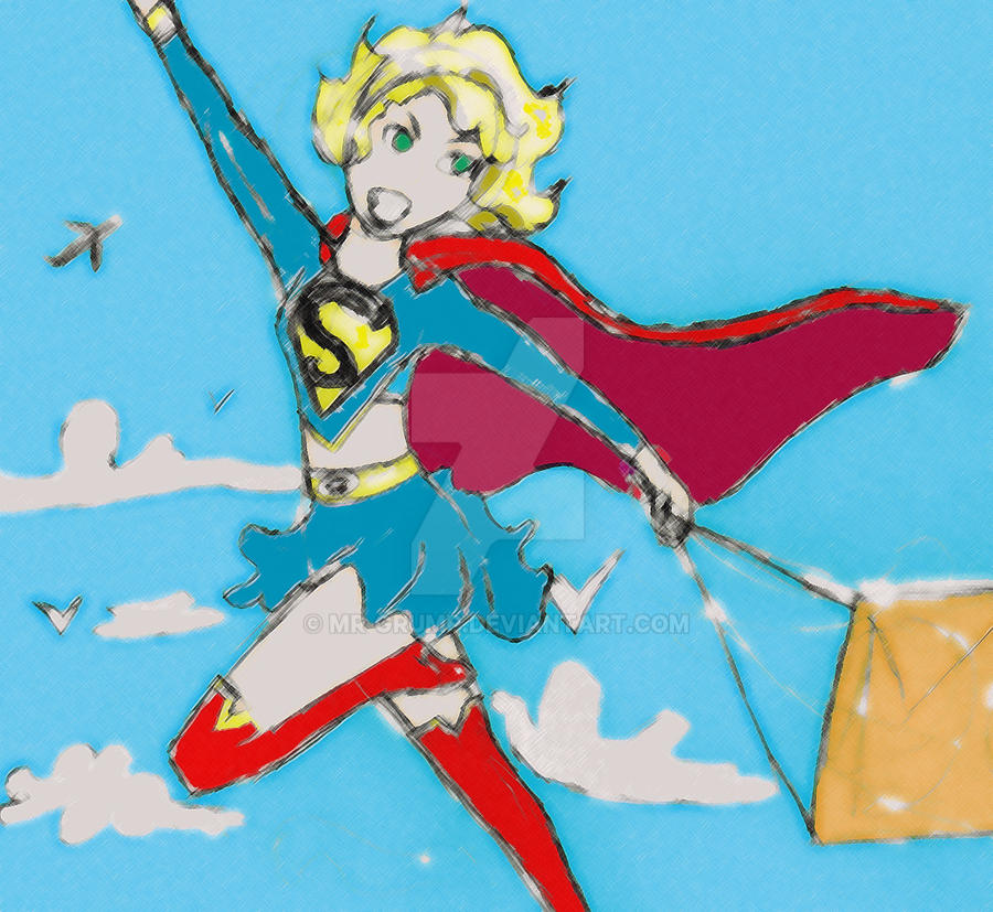 lil super girl sketch ver 2 by mr-grump