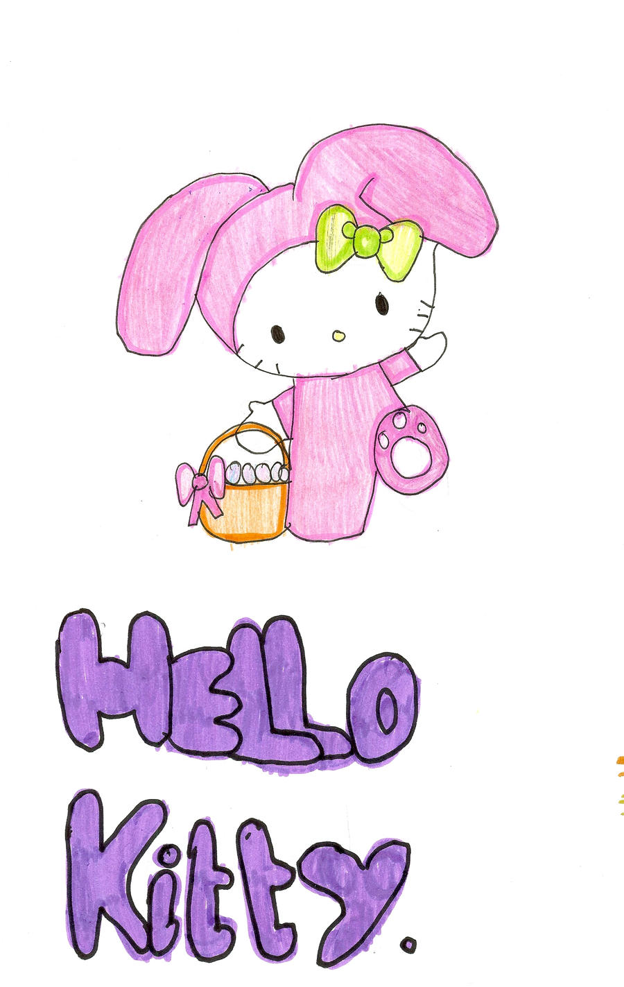 Hello Kitty Easter Drawing by Peace22699 on DeviantArt aFawP7OR