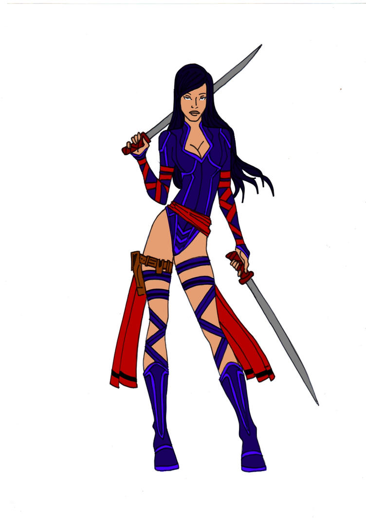 Psylocke Redesign! by Comicbookguy54321