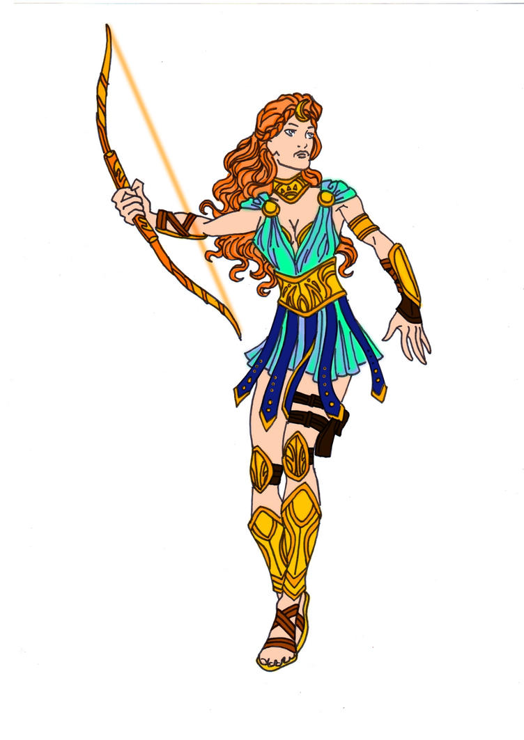 Hera Greek Goddess Cartoon Artemis - goddess of the hunt!