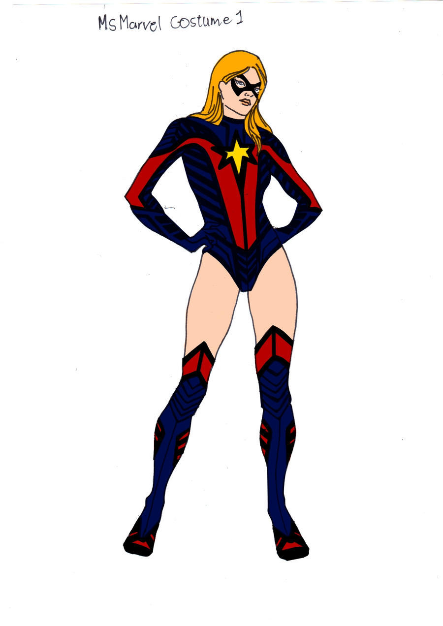 Ms Marvel 1st Costume Redesign! by Comicbookguy54321