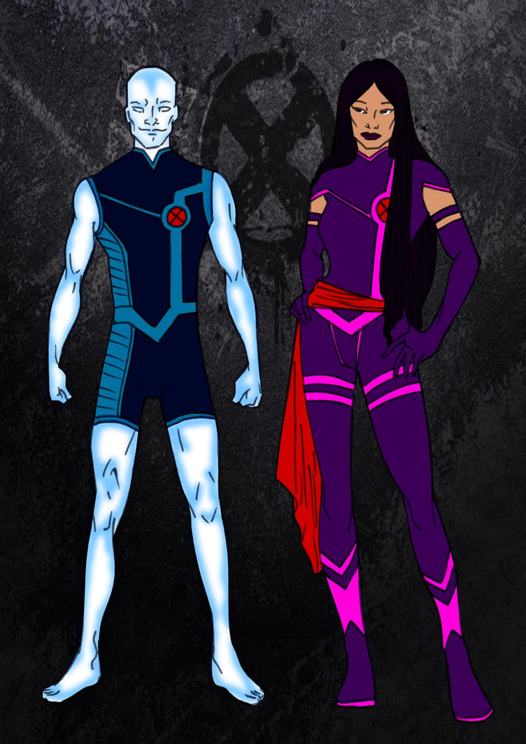 X-Men Year One-Iceman And Psylocke by Comicbookguy54321