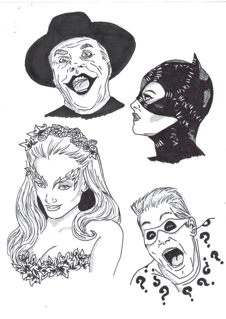 Batman Film Villains! by Comicbookguy54321