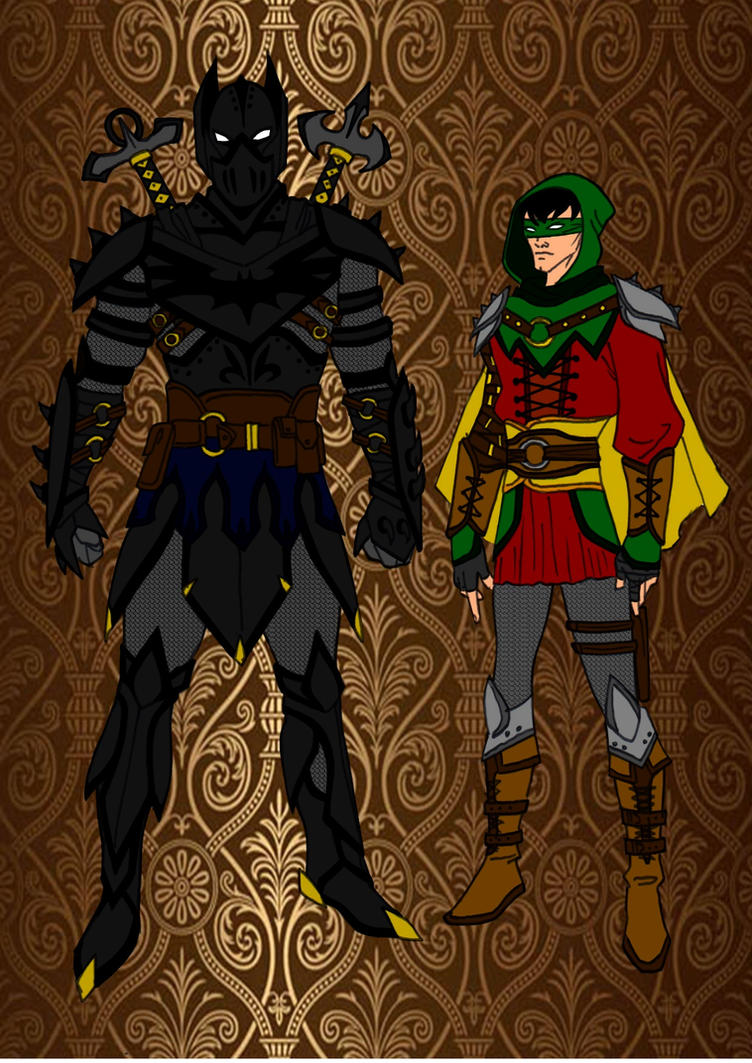 Escape from Gemworld [Red Robin] Medieval_batman_and_robin_by_comicbookguy54321-d855kdv