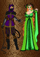Medieval~Catwoman And Poison Ivy by Comicbookguy54321